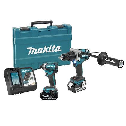 Makita 18V (5.0 Ah) LXT outils brushless combo