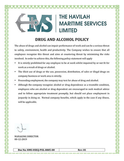 HMS-HSEQ-POL-0005-00_Drug and Alcohol Po
