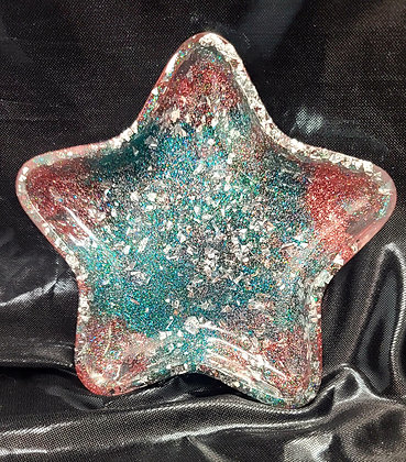 Resin Tray Pink/Teal Star