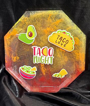 Resin Tray Taco Night Octagon