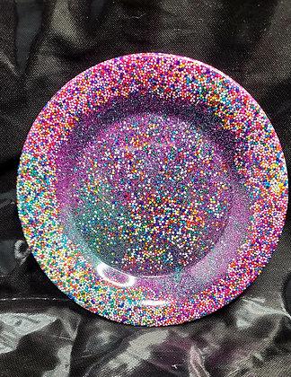 Resin Tray Sprinkles Round
