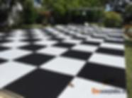 Pista de baile tipo ajedrez