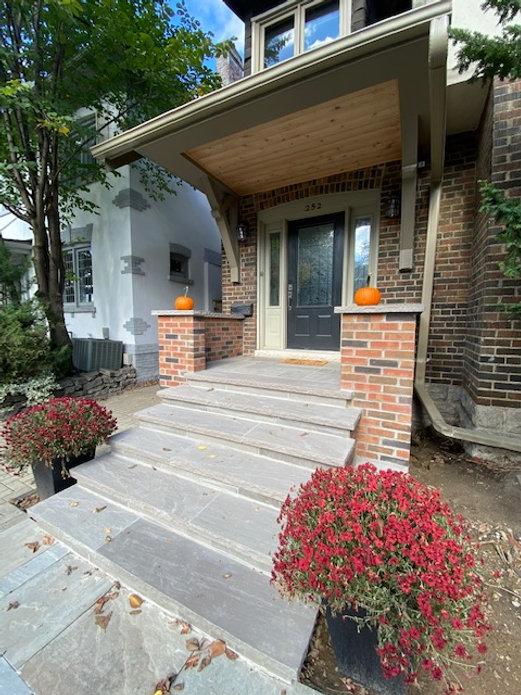 porch repair stone repair toronto stone mason masonry contractor toronto