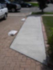 Concrete steps, concrete resurfacing, concrete repour, concrete landing, concrete pathway, masonry contractors, concrete contractors, toronto Masonry, Concrete walkway, cost of concrete, concrete pad