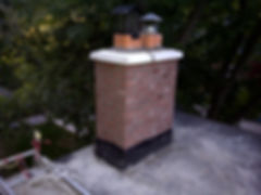 simple chimney with pre cast cap and dom