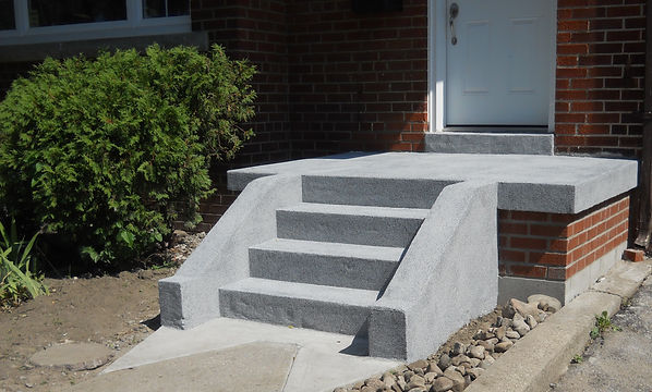 Concrete steps, concrete resurfacing, concrete repour, concrete landing, concrete pathway, masonry contractors, concrete contractors, toronto Masonry