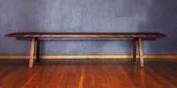 light bench, 2200 l x 380 w x 420 h, african mahogany