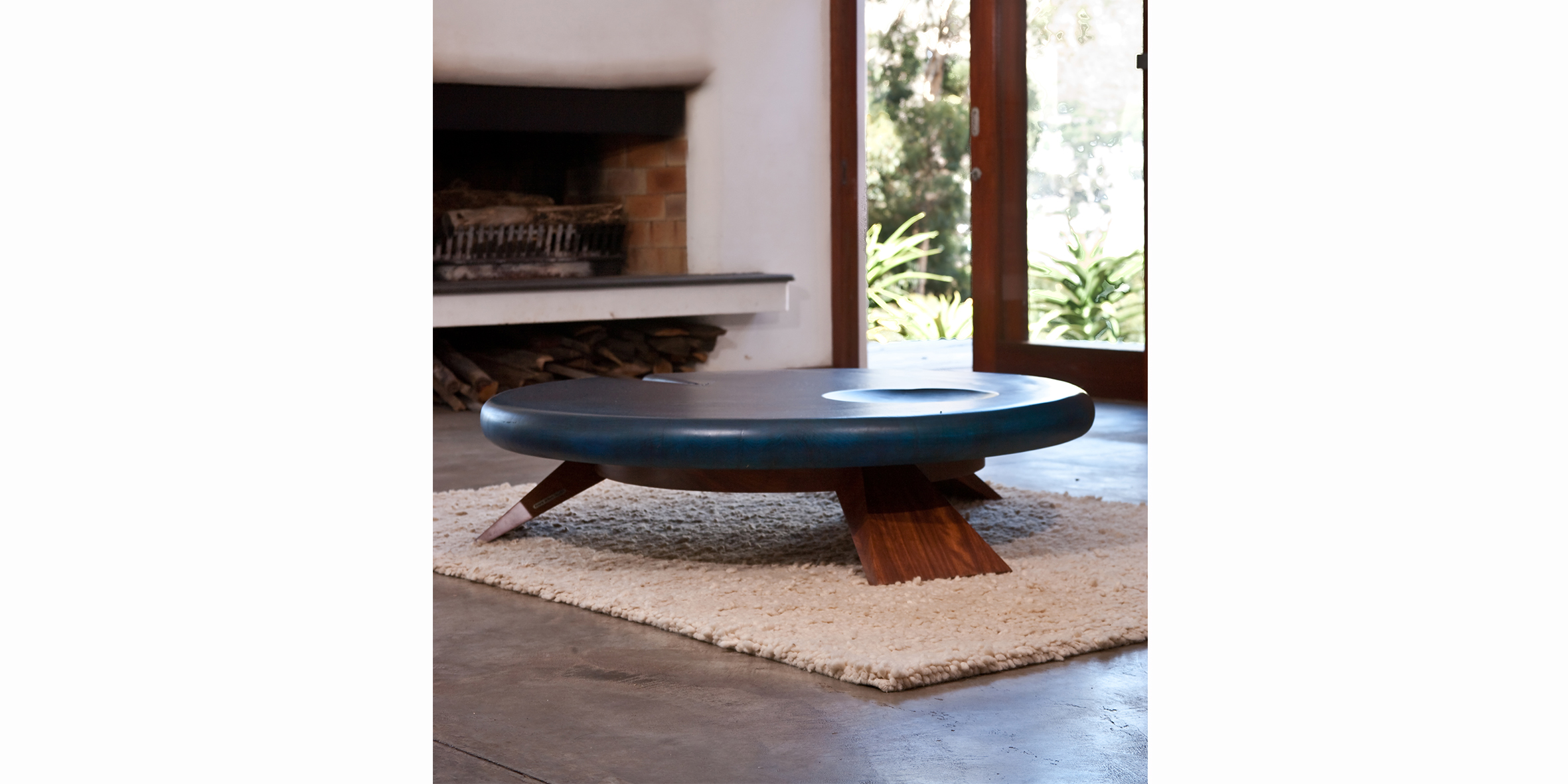 big boy blue, 1400 dia x 350 h, stone pine stained blue with iroko base4