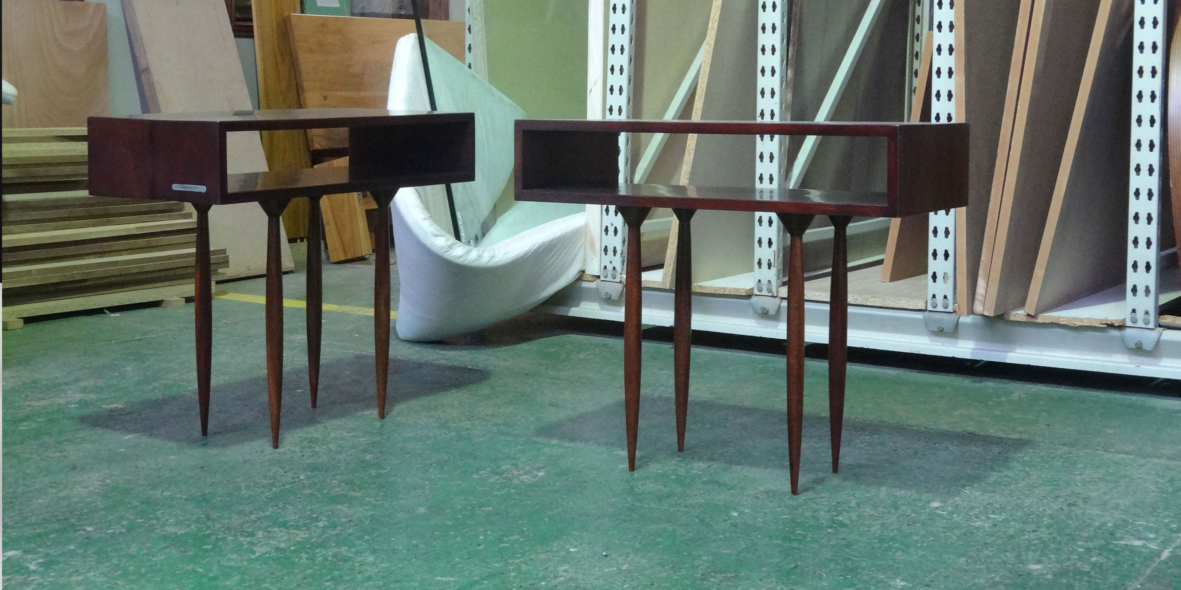 hotel jhb, children side tables, 700 l x 320 w x 600 h, mahogany