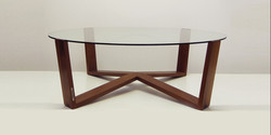 web table, 1200 l x 400 h, solide american walnut