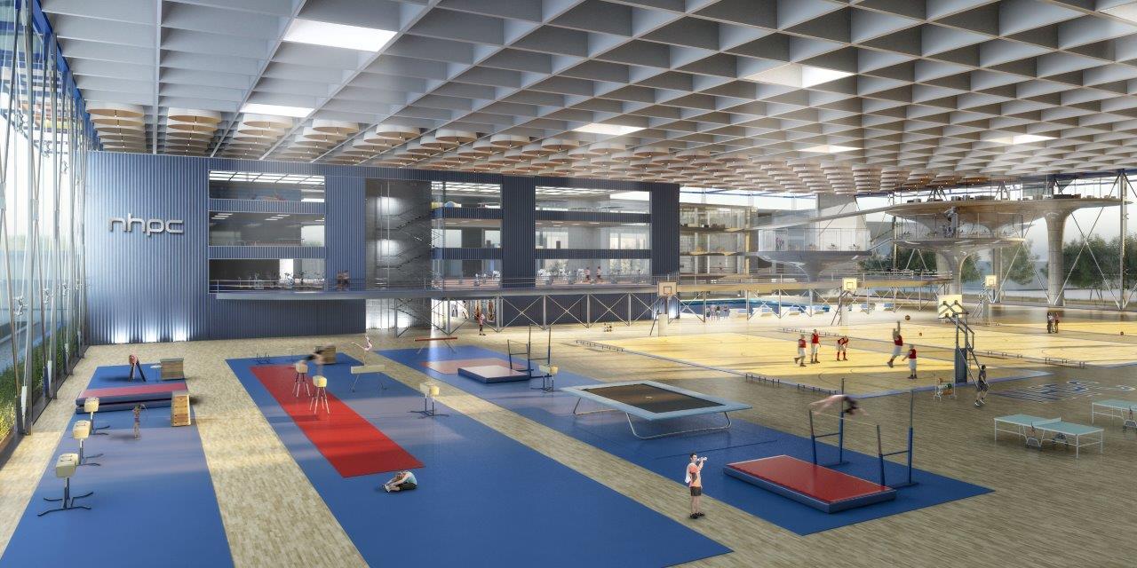 main event hall, level 2