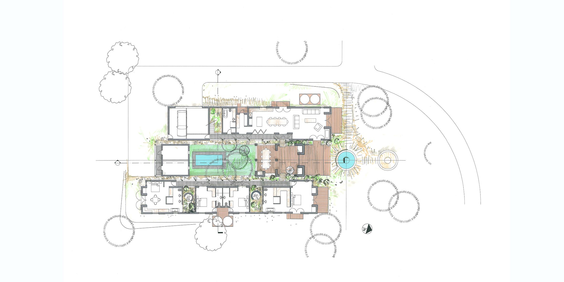 house oosthuizen, plan