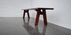 eve bench, 2200 l x 380 w x 420 h, african mahogany