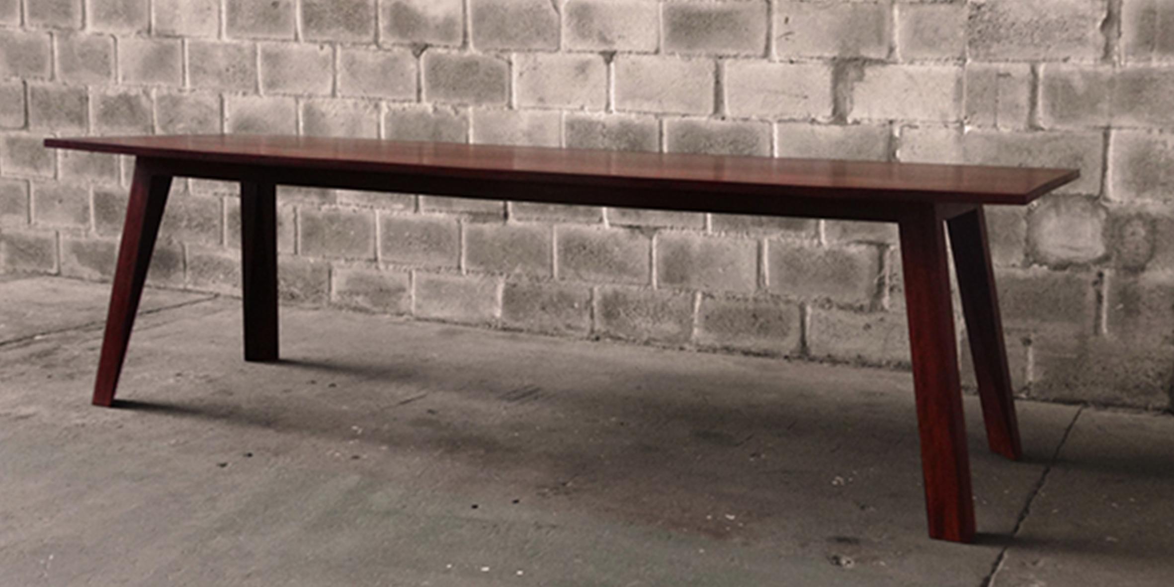 table 1, 2700 l x 1100 w x 730 h, reclaimed jarrah
