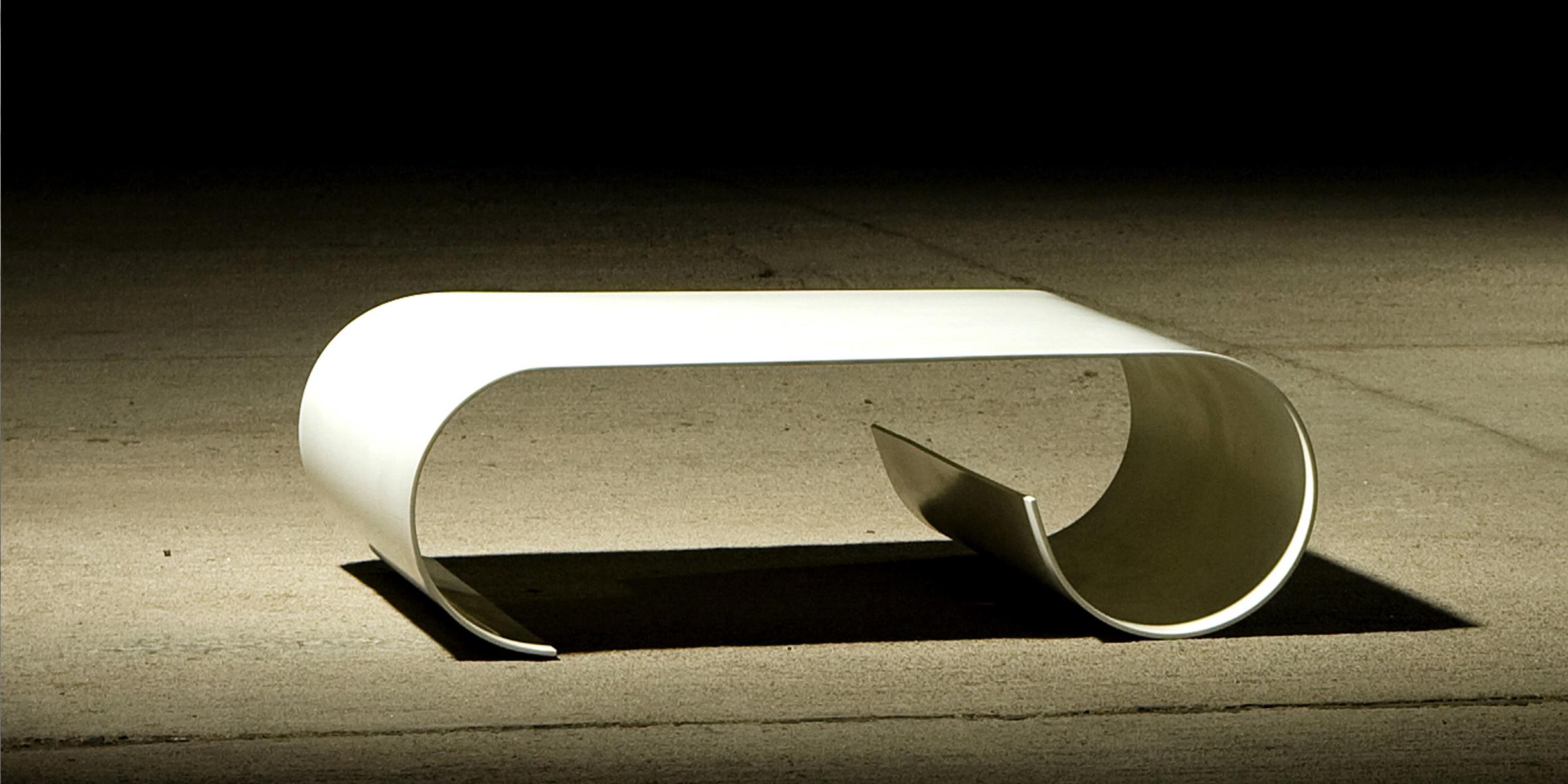 leaf coffee table, 960 l  x 760 w x 300 h, glacier white corian