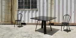 seun table, 1100 l x 1100 w x 730 h, wenge