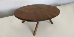 ovate table, 1400 l x 700 w x 400 h, jarrah