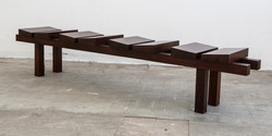 bench one, 2500 l x 400 w x 400 h, african mahogany