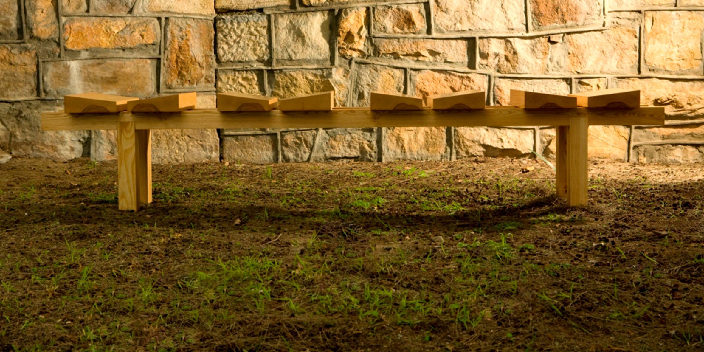 bench one, 2500 l x 400 w x 400 h