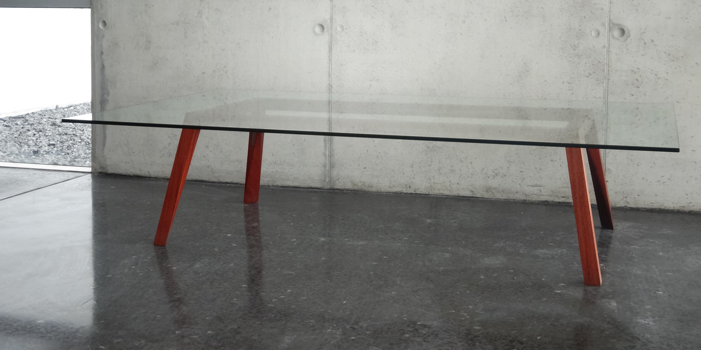 coffee table 1, mahogany, 1600 l x 1000 w x 400 h