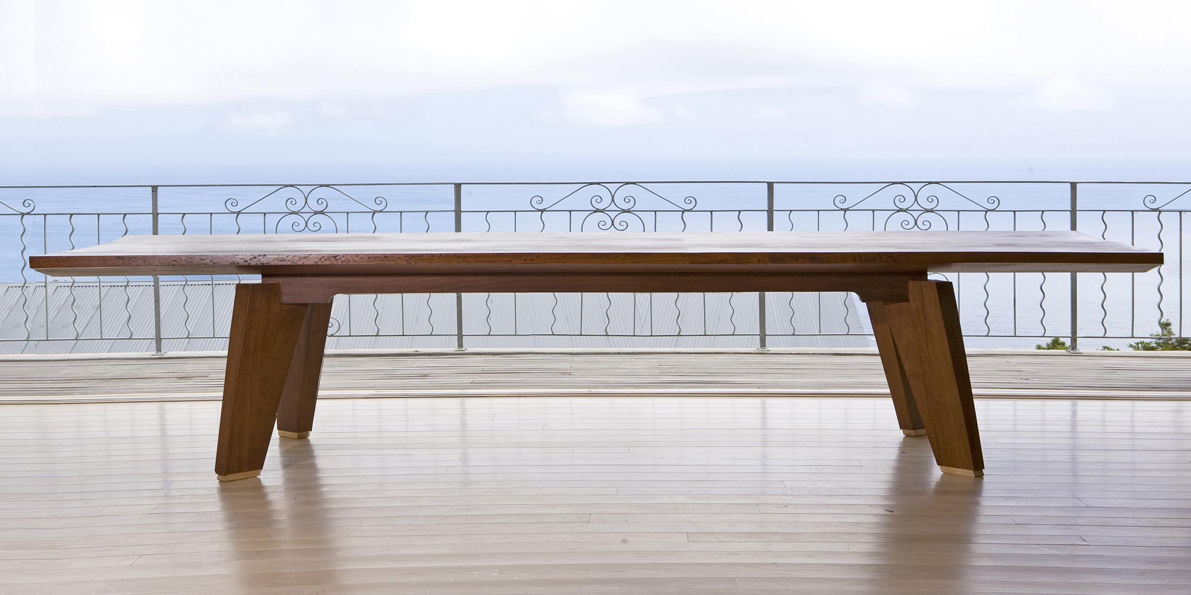 michael table, 2700 l x 1100 w x 730 h, mahogany