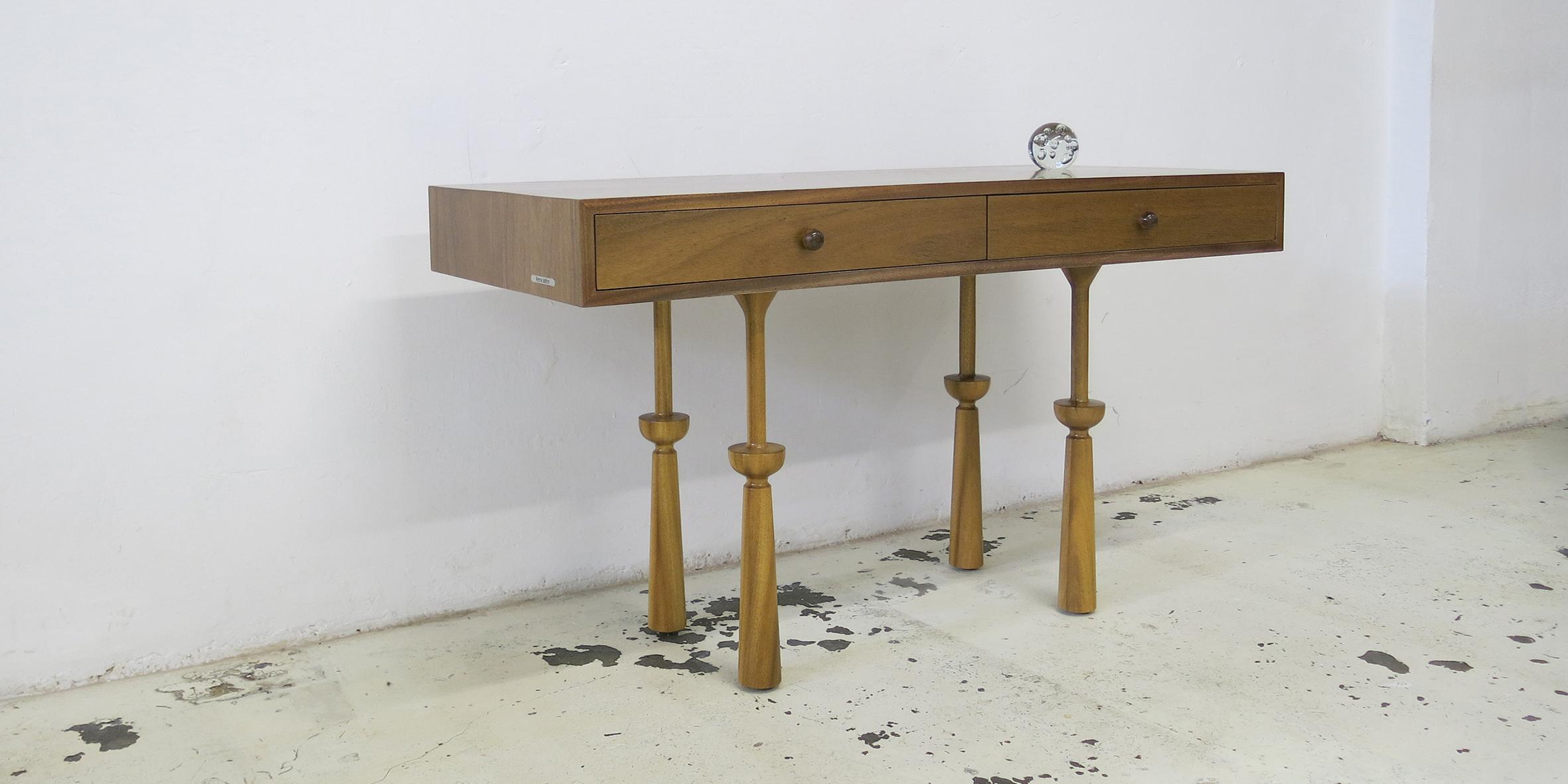 andreas desk, 1360 l x 576 w x 780 h, african walnut
