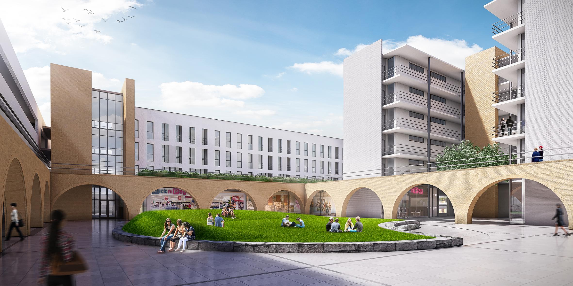848 mixed use development, slideshow courtyard