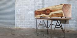 block bench, 2000 l x 400 w x 400 h, blackwood