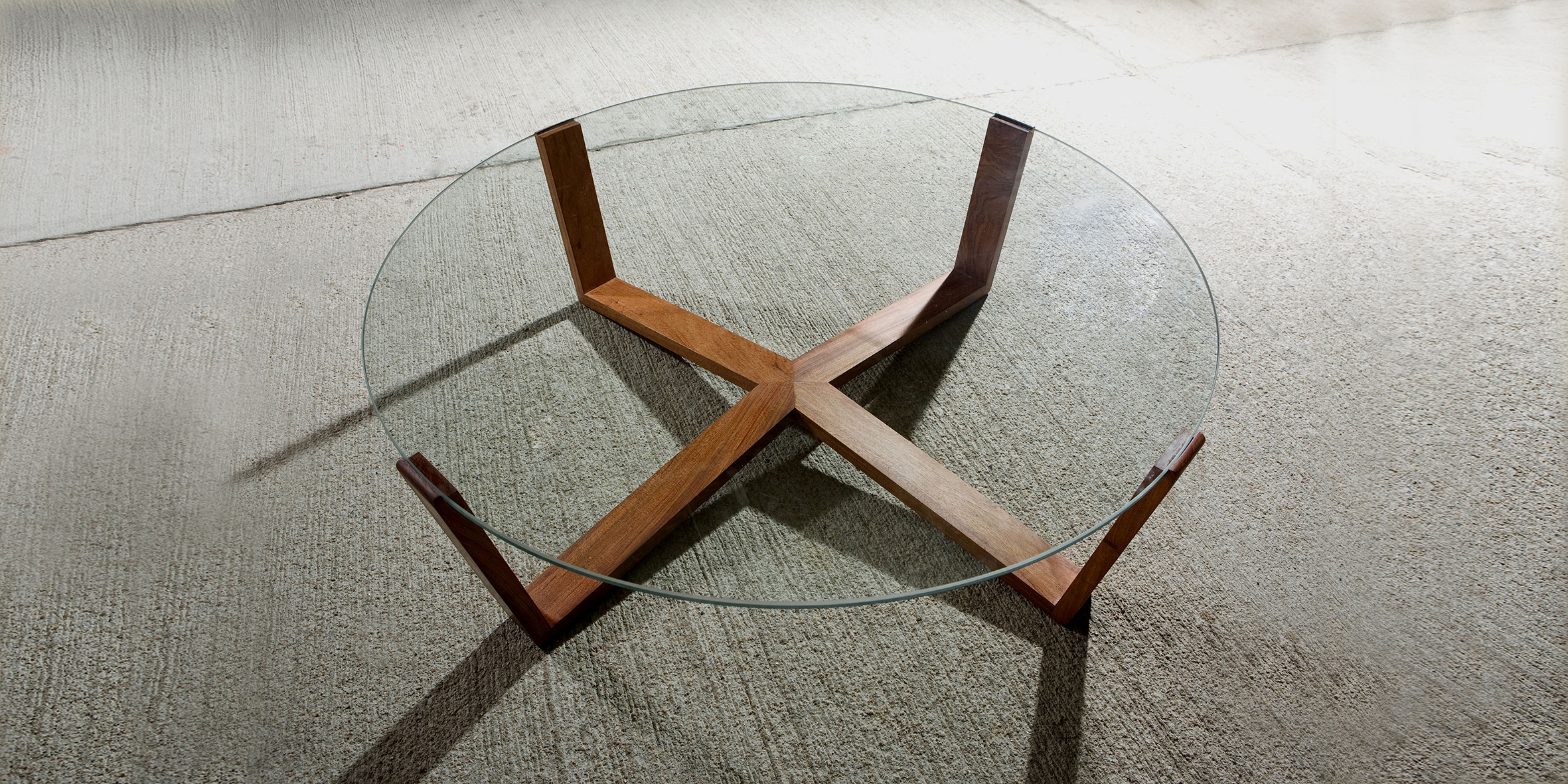 web table, 1200 l x 400 h, solide american walnut