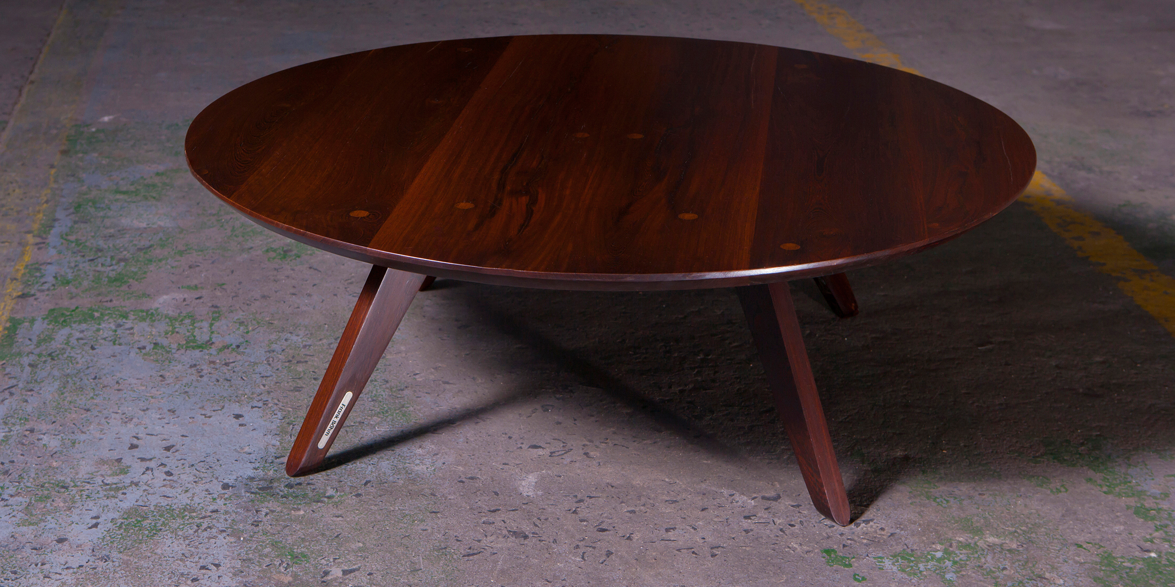 fbs - rylt coffee table, 1200 dia x 380 h, reclaimed wenge REV1