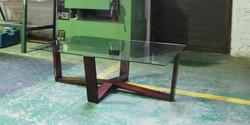 hotel jhb, rectangular web table, 1400 l x 800 w x 400 h , mahogany