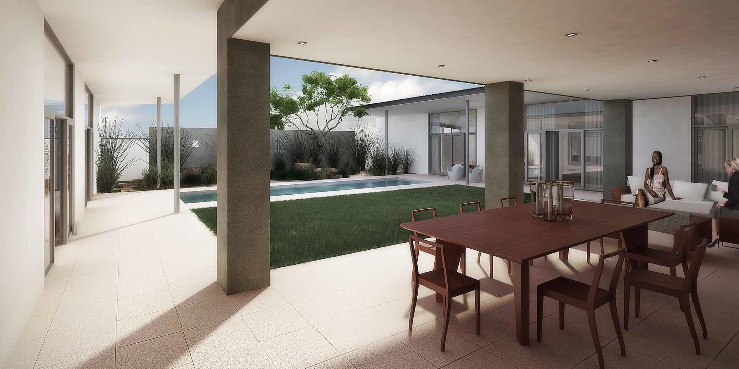 house ongewediva, courtyard