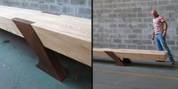 timber kewitz bench, 6000 l x 500 w