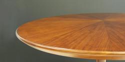fbsepal table, 900 dia x 740 h, kiaat
