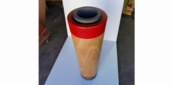 fbs - stalins column, 550 diameter x 1350 h, turned timber with concrete inner 4