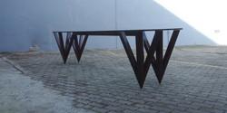 hotel jhb, w table, 3000 l x 800 w x 800 h , mahogany