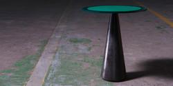fbs - brazilian table, 600 h x 500 diameter, 8mm thcik mild steel polished concrete base REV 1