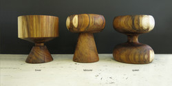 chesspieces, 350 dia x 450 h, blackwood