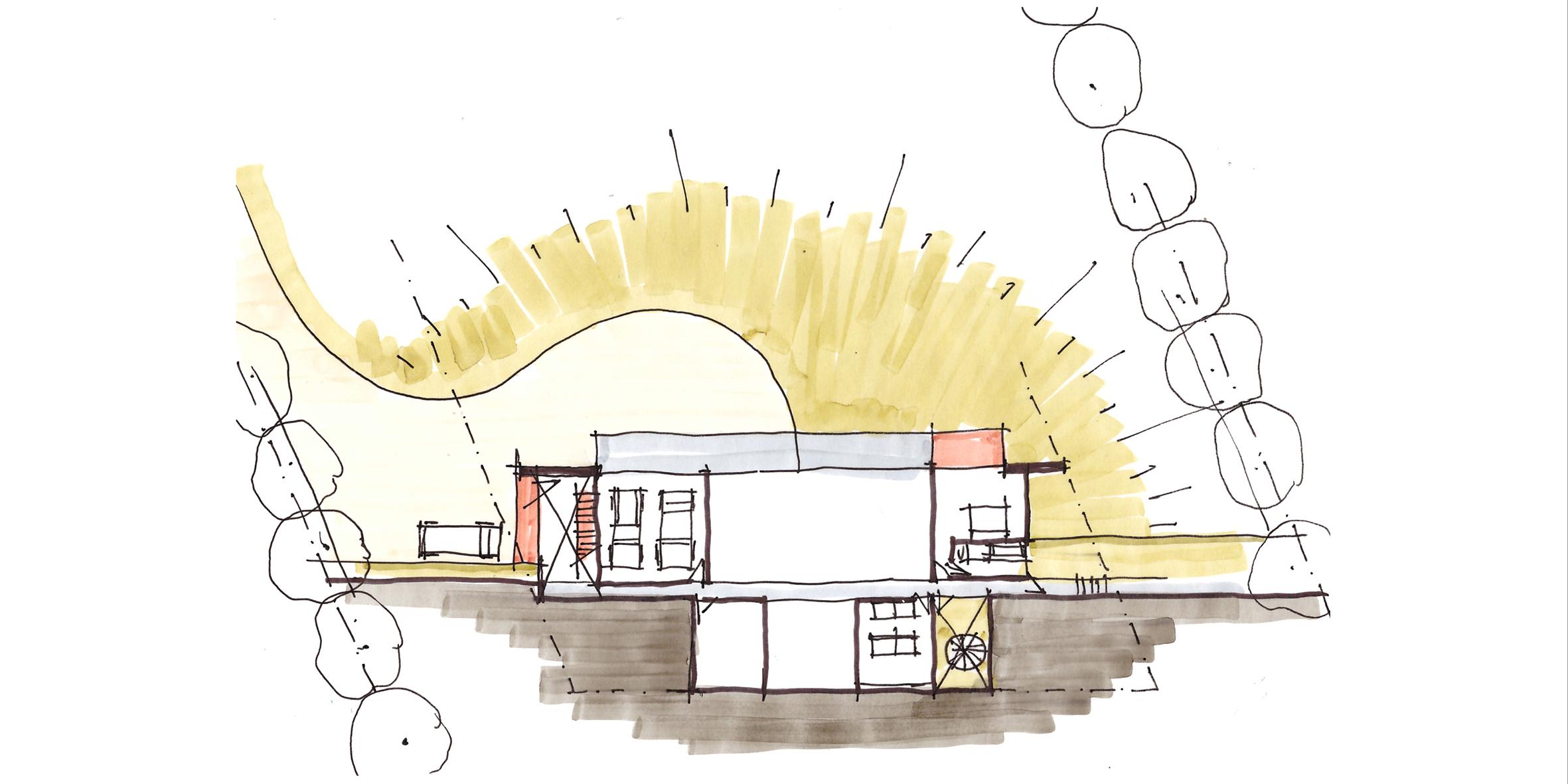 house miglietta, concept site plan