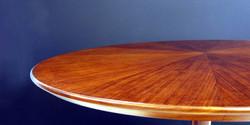 sepal table, 900 dia x 740 h, kiaat 3