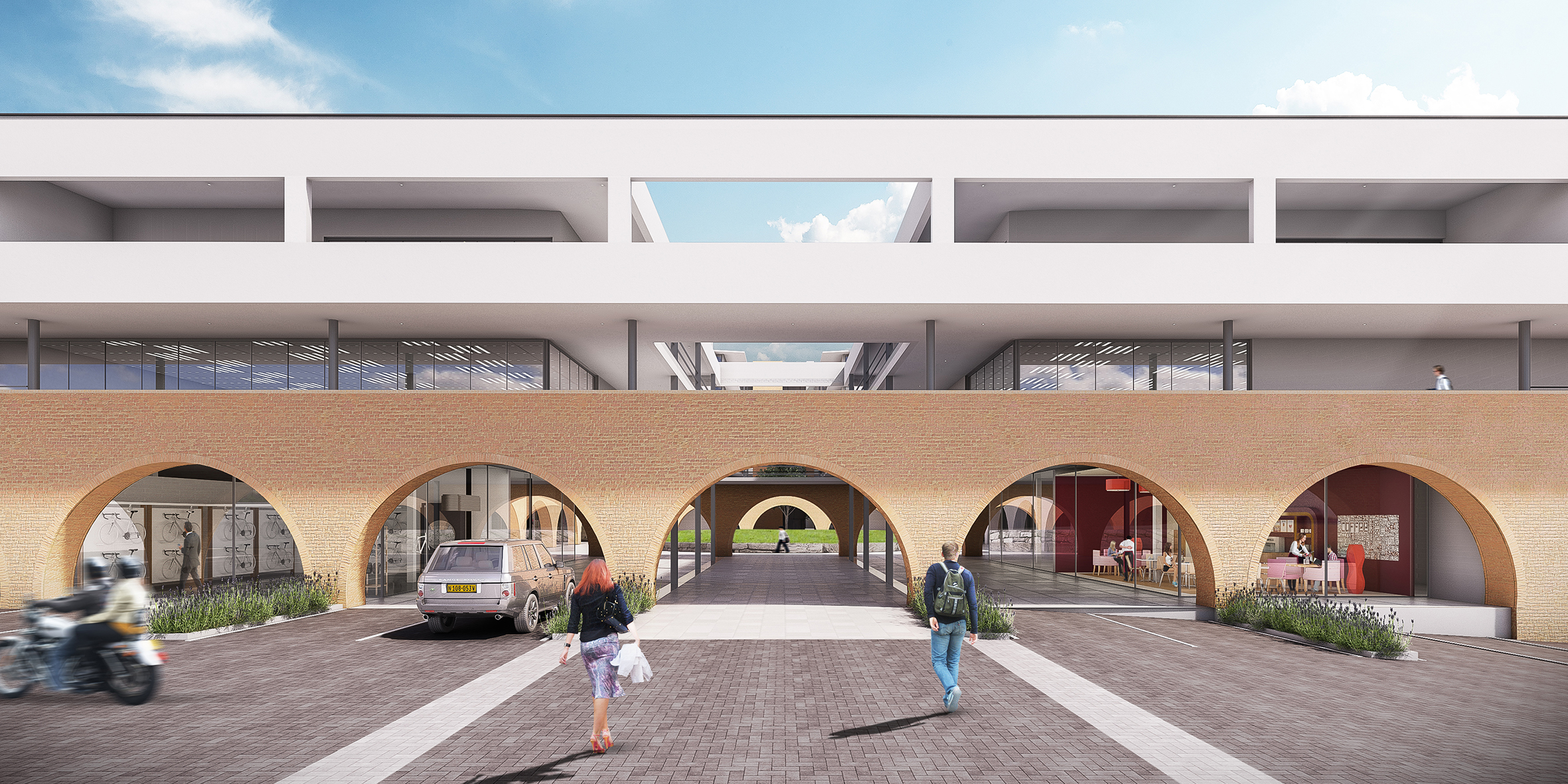 848 mixed use development, slideshow arches