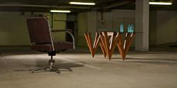 w table, 3000 l x 1250 w x 730 h, mahogany