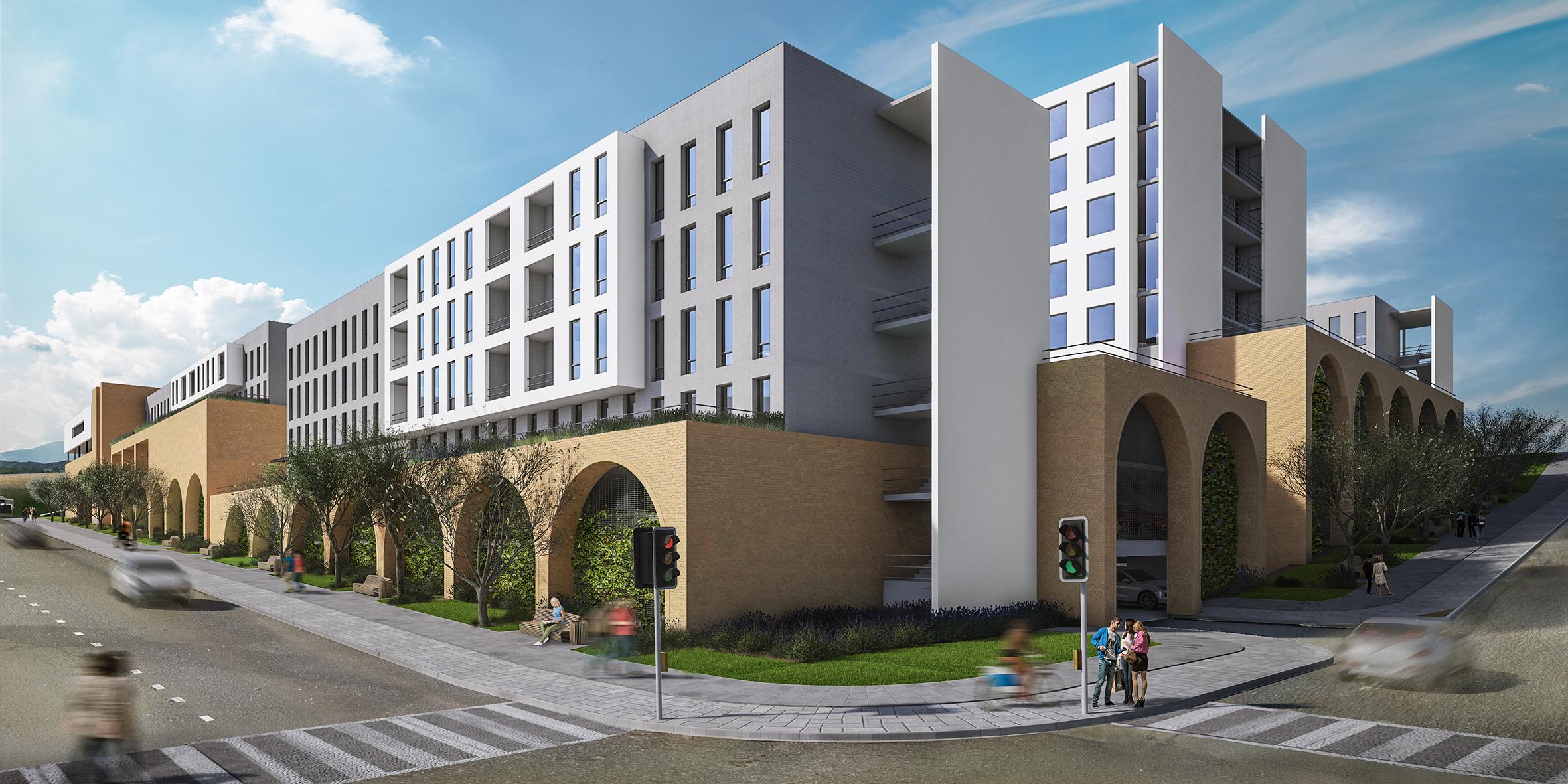 848 mixed use development, slideshow street