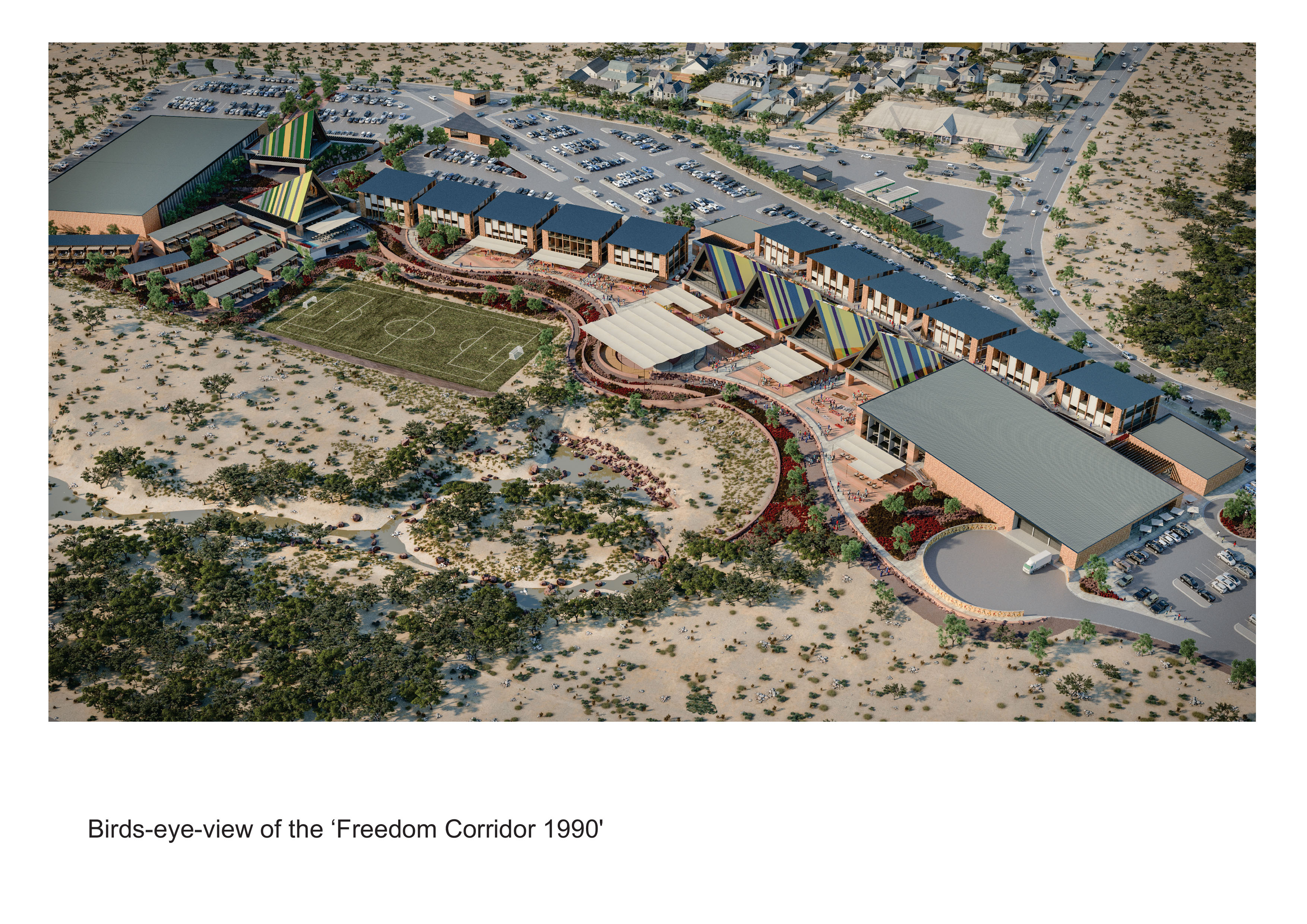 freedom corridor birds eye view