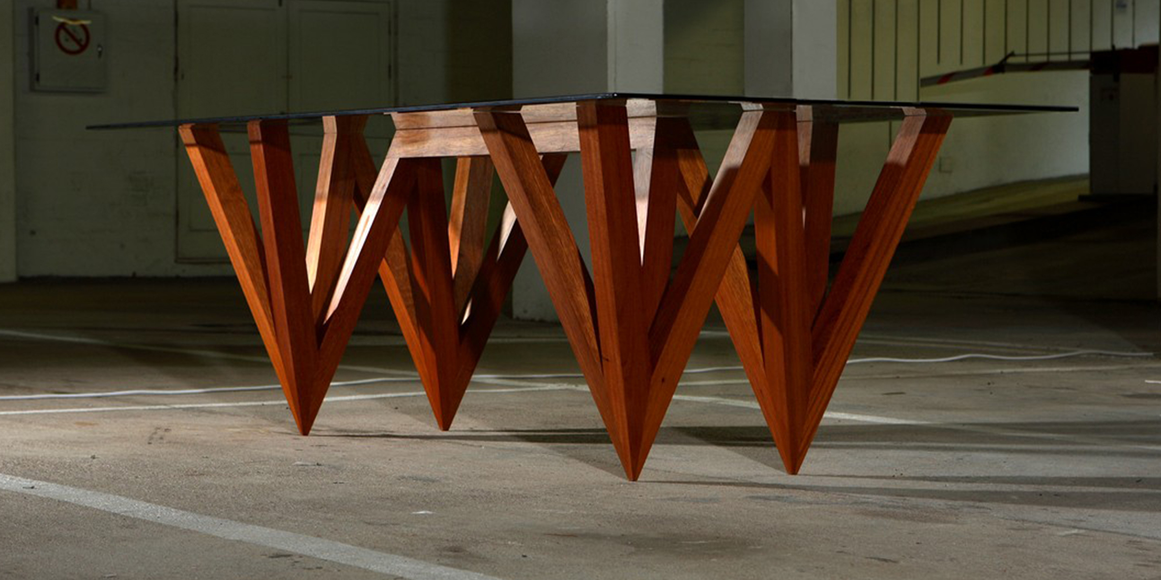 w table, 3000 l x 1250 w x 730 h, mahogany