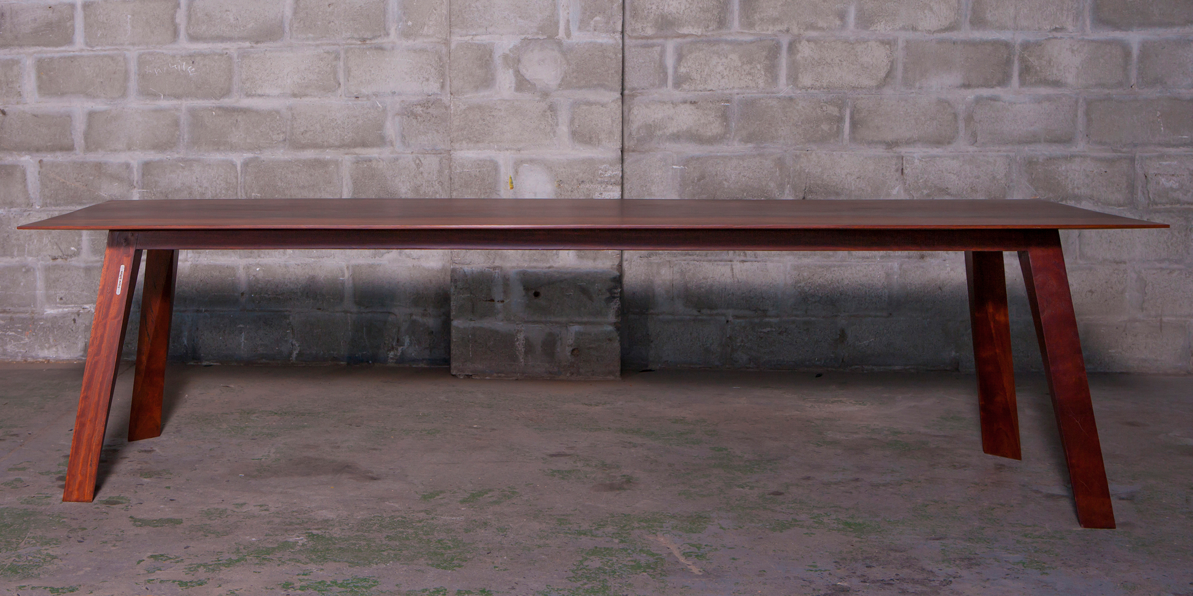 fbs - table 1, 2700 l x 1100 w x 730 h, reclaimed jarrah REV 1