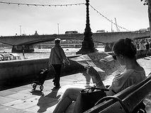 Street photography enbankment london