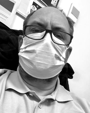 man in a mask during Covid 19 pandemic