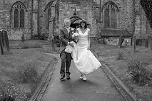 wedding church bride & groom