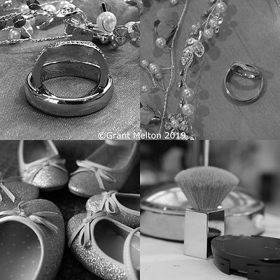 for photos of wedding images ring, shoes, powder brush,